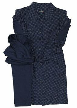 Blue pajamas, jacket and plus size cotton jersey trousers fo