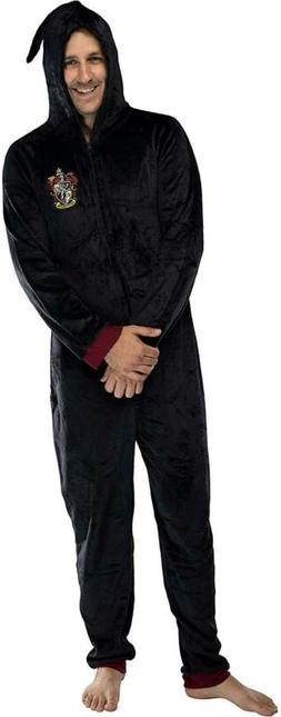 INTIMO Harry Potter Men's Hooded One-Piece Pajama Union Suit