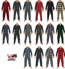 Norty Mens Cotton Poly Blend Yarn Flannel Pajama Lounge Slee