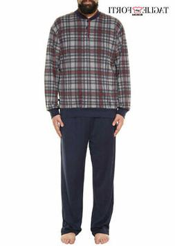 Plus size cotton fleece pajamas and trousers for men. Big an